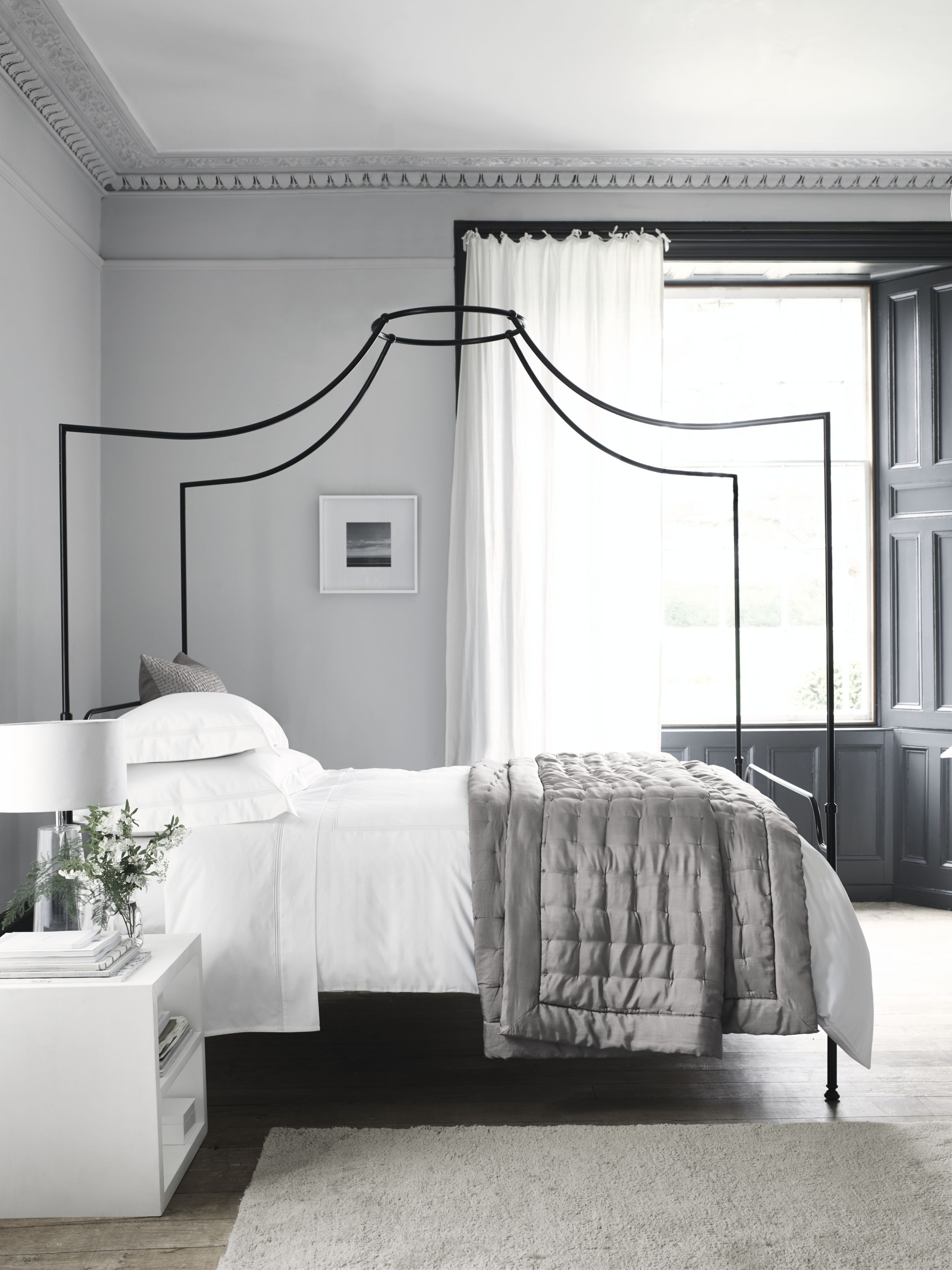 The Striking Silhouette Of This Double Bed Is The Perfect