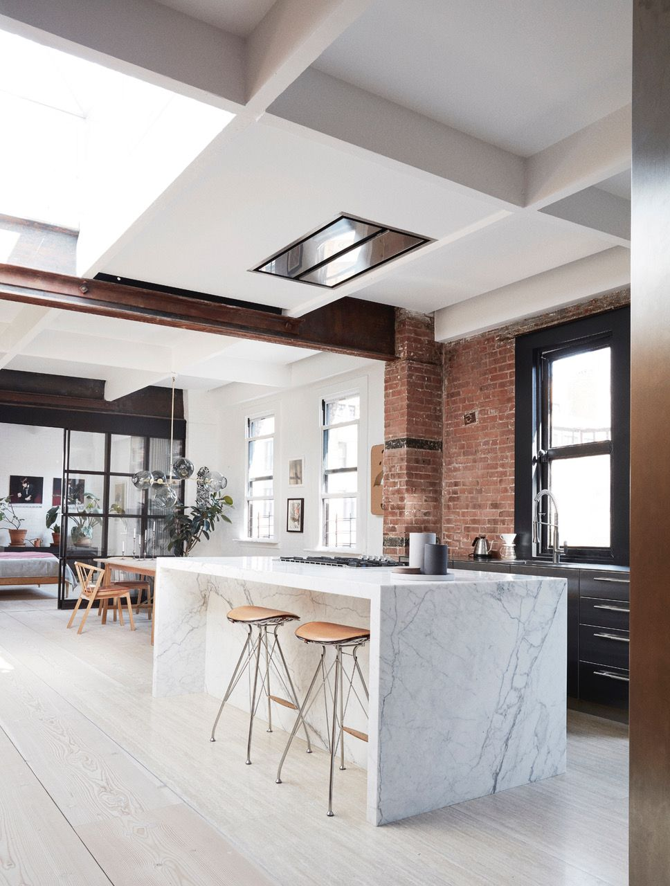 Tribeca Loft by Soren Rose and Wire Bar Stools by Overgaard & Dyrman ...