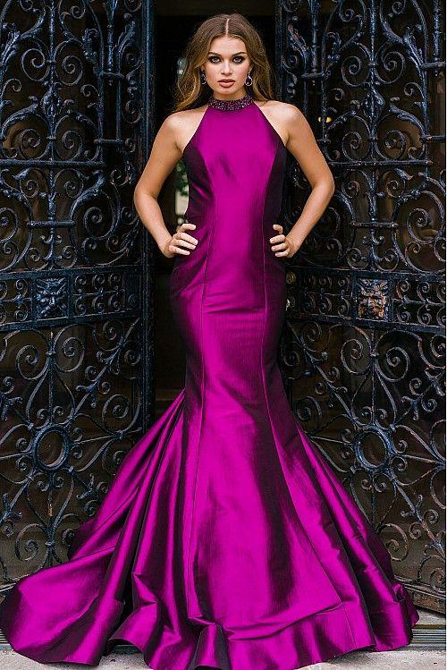 Purple Halter Neck Mermaid Couture Dress 33783 | Design: Jovani ...