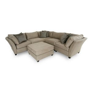 Best H M Richards Suede Sectional Bernie And Phyls 400 x 300