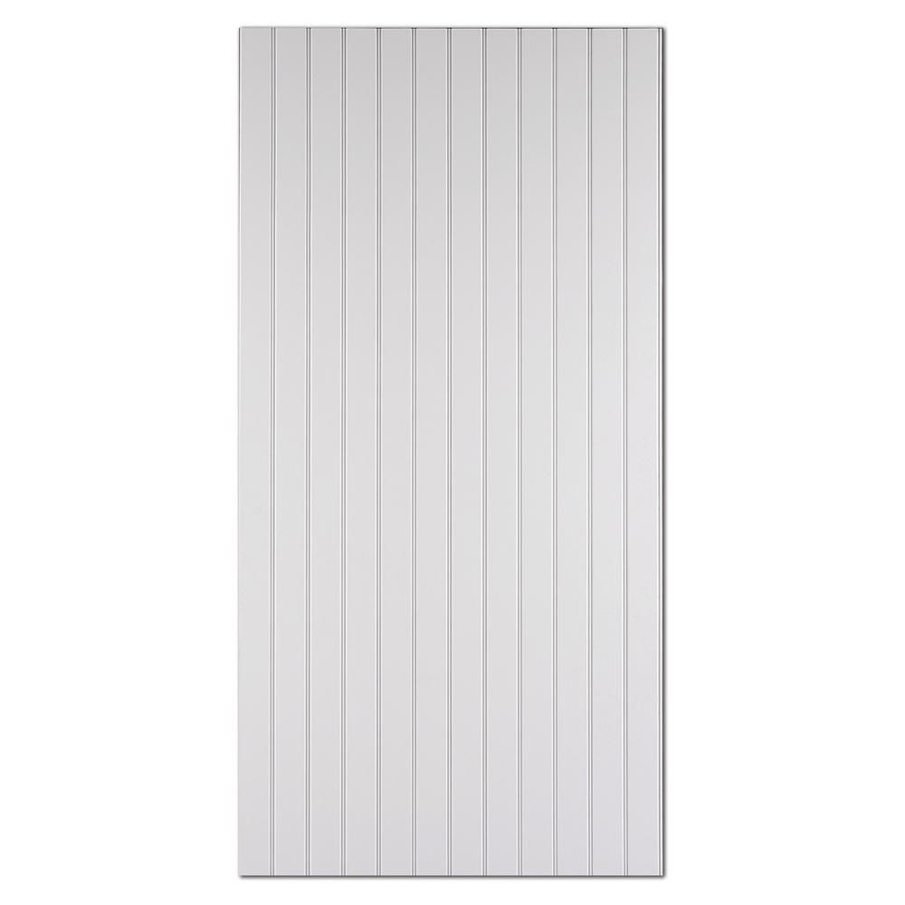 1 4 In X 48 In X 96 In Mdf Ultra True Bead Primed Panel 1001251858 The Home Depot Paneling Pvc Beadboard Wall Treatments