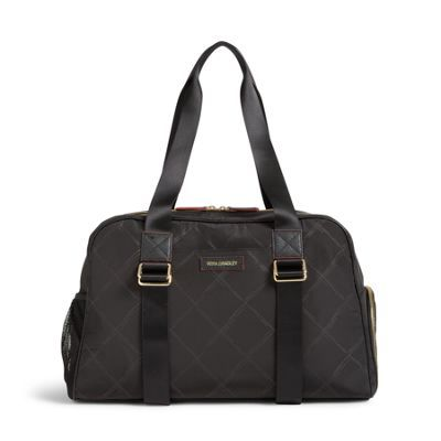 The Preppy Poly Yoga Sport Bag may be the only gym bag you'll ever need. It features a side zip pocket that's perfect for shoes and adjustable side straps to hold a yoga mat. The exterior features a side mesh pocket, a front slip pocket and a long pocket on the back that features a magnetic closure, and the interior features five more mesh pockets.
