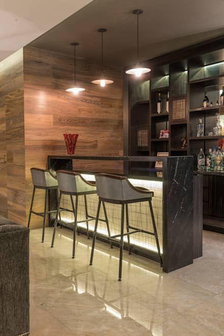 Salas ideas dise os e im genes en 2019 casas modernas - Barra de bar en casa ...