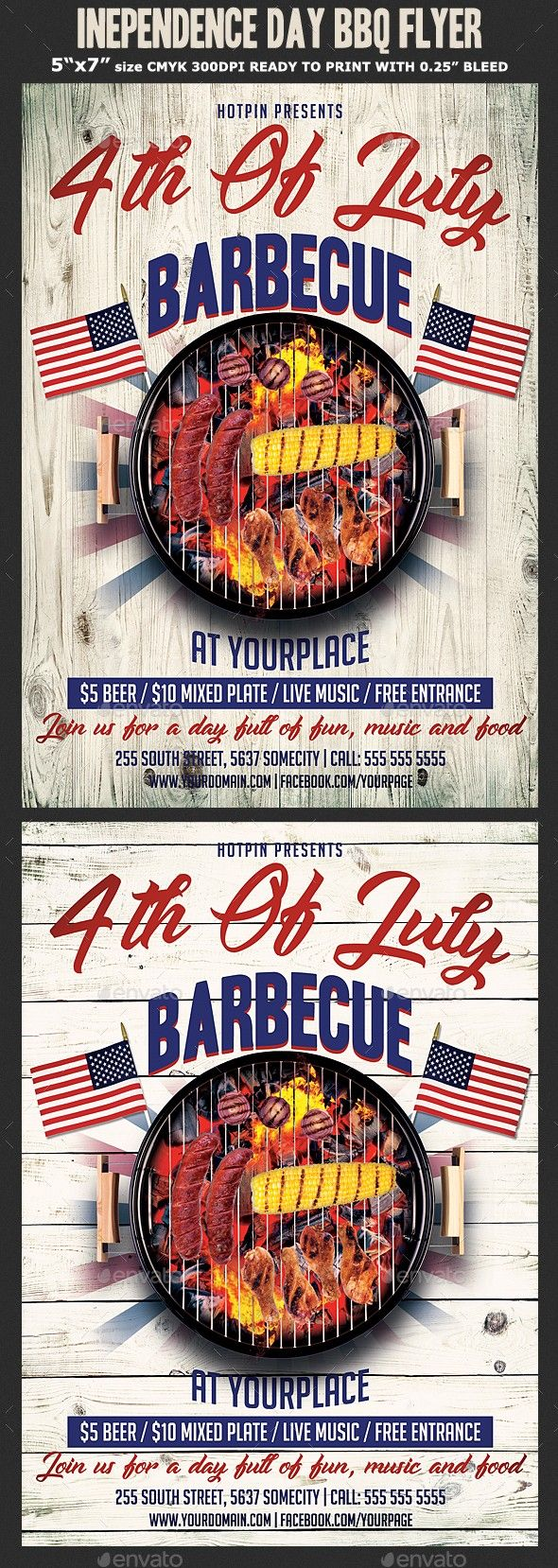 4th Of July Advertising American Barbecue Barbecue Flyer Bbq