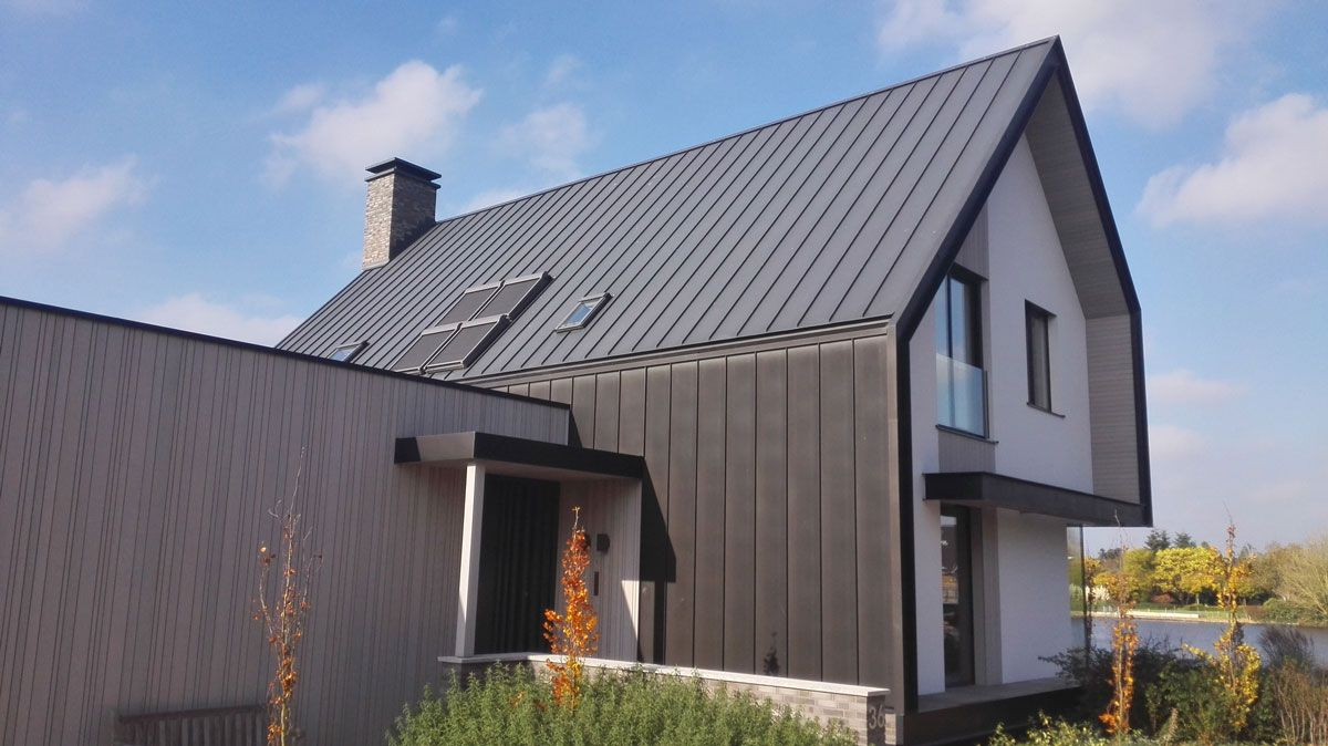 Best Pre Weathered Black Noir Zinc Roof House Outdoor Decor 400 x 300