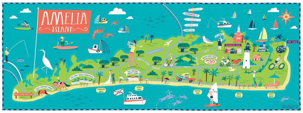 Amelia Island, Florida | Map | Amelia island map, Amelia island ...