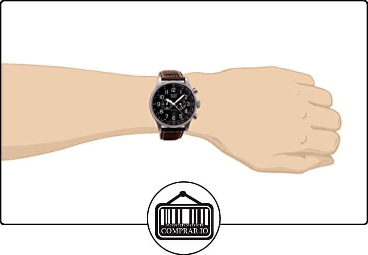 a6231696d351 Davis-0451- Reloj Hombre Aviador 48mm - Cronógrafo Sumergible 50M - Correa  de Piel Marrón con pespunte de ✿ Relojes para hombre - (Gama media alta) ✿
