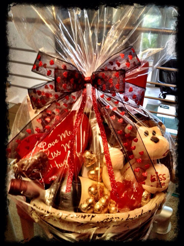 valentines day basket for him - Valentine Day Delivery Ideas For Him