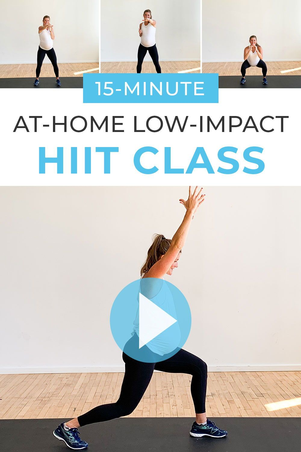 This low impact cardio BODYWEIGHT WORKOUT can be done anytime, anywhere. You'll get a full body cardio workout done in just 15-minutes -- all you have to do is press 'play' and follow along! Plus, this is a great pregnancy workout, post-baby workout, or beginner workout at home!