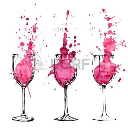 dessin verre de vin: Vin illustration - esquisse et le ...