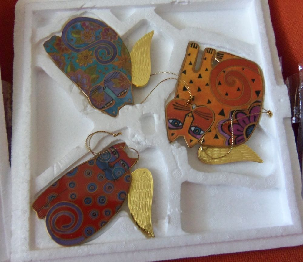 Laurel Burch Angeli-Cats Ornament Collection BRADFORD EDITIONS $30.00 $12.95shpg