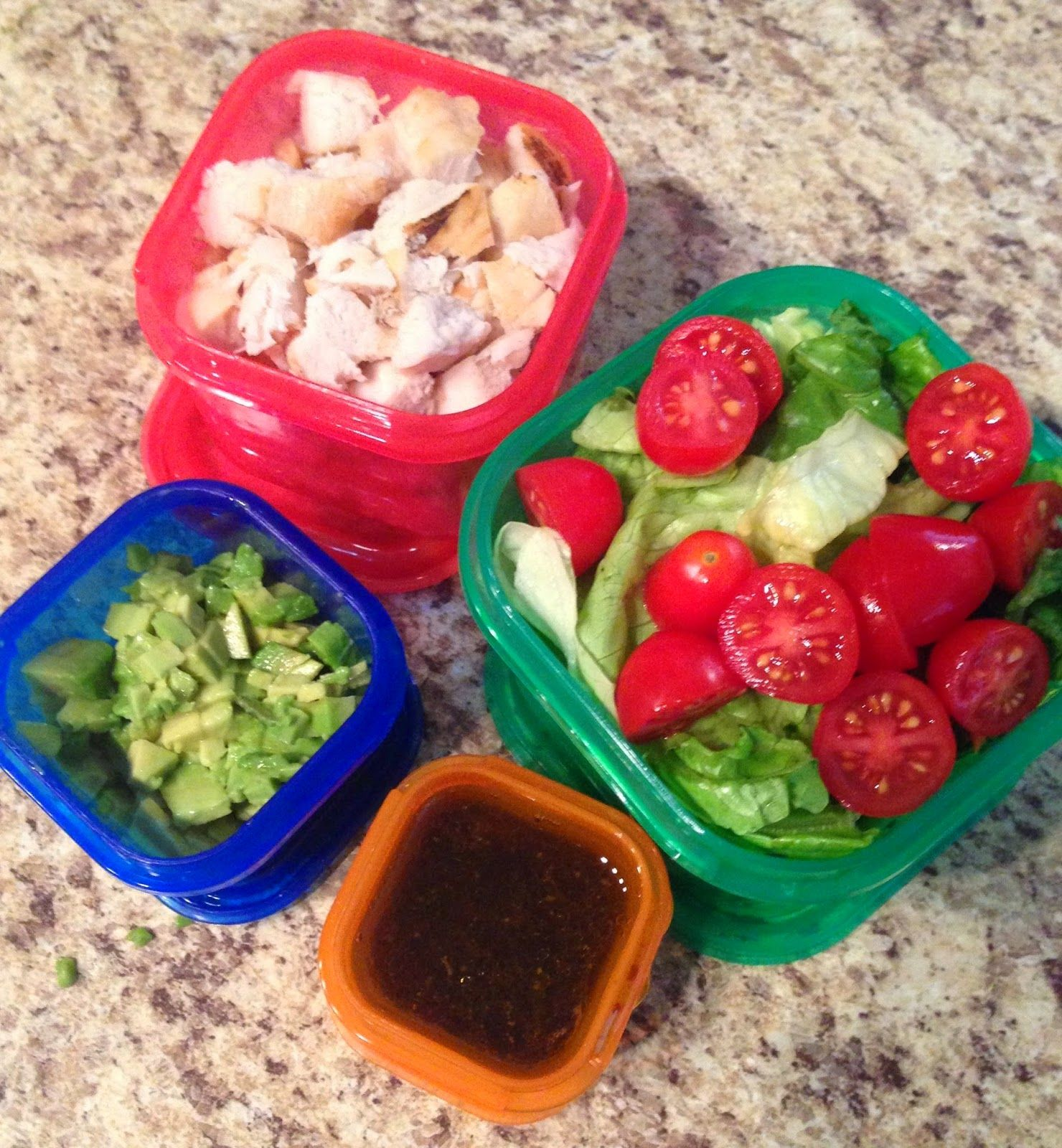 21 Day Fix Lunch Lettuce And Cherry Tomatoes 1 Green Grilled Chicken 1 Red Chopped
