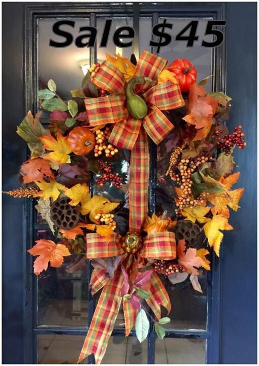 A personal favorite from my Etsy shop https://www.etsy.com/listing/255730517/fall-grapevine-wreath