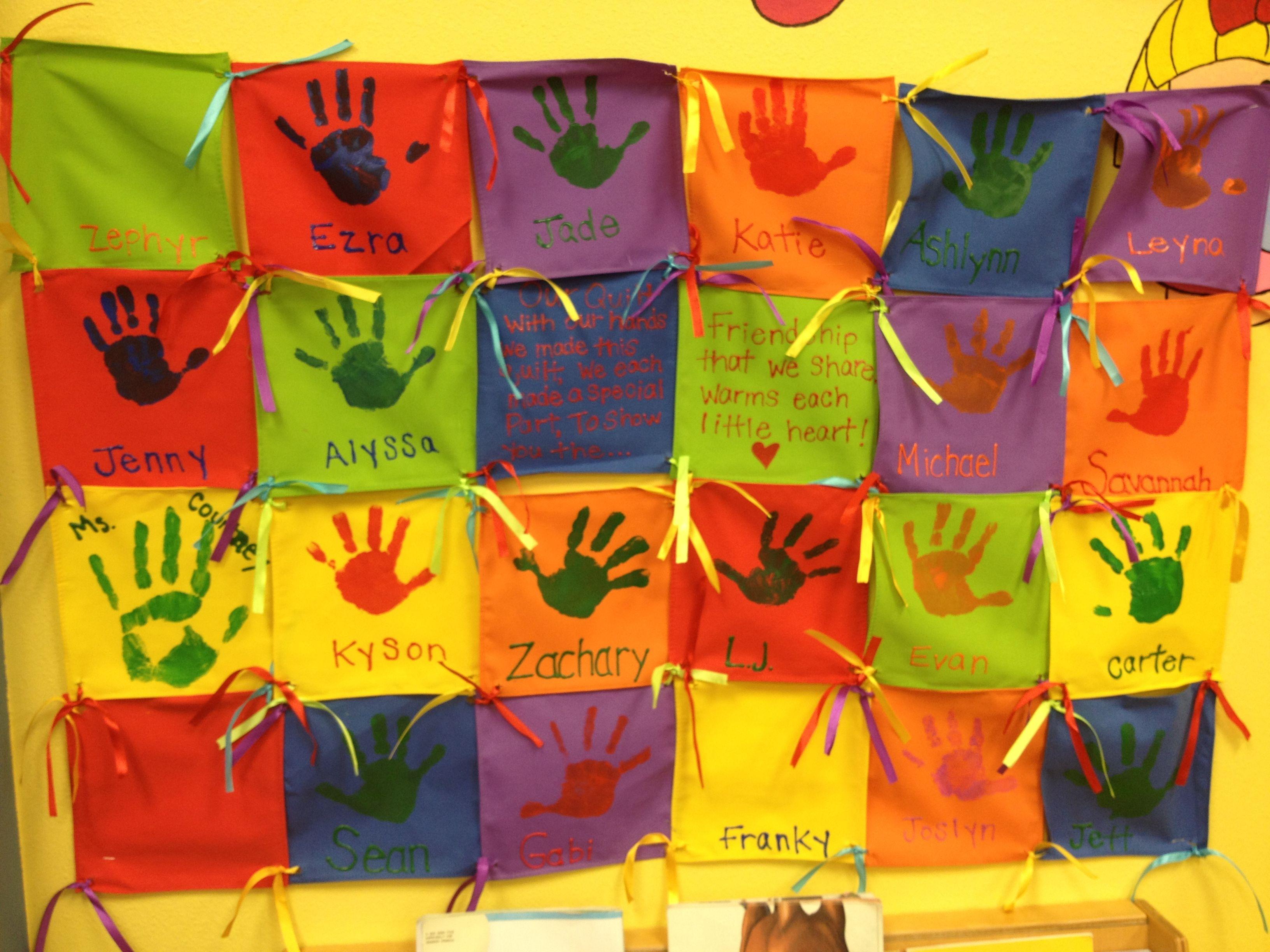 Preschool Class Quilt
