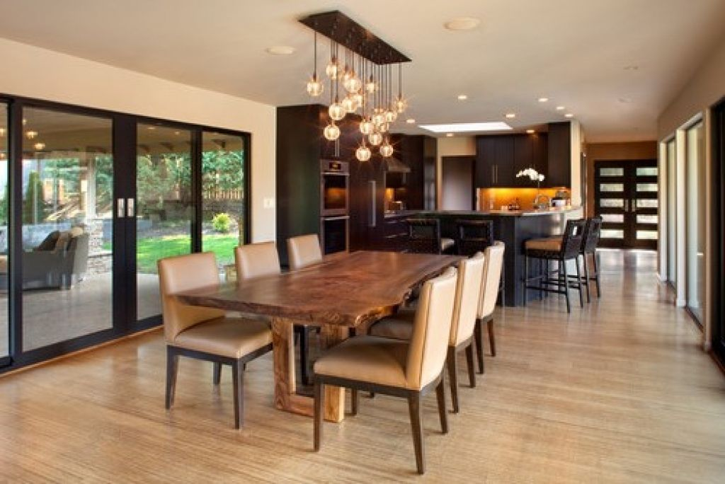 Installing Pretty Pendant Lighting Over Dining Room Table Dining