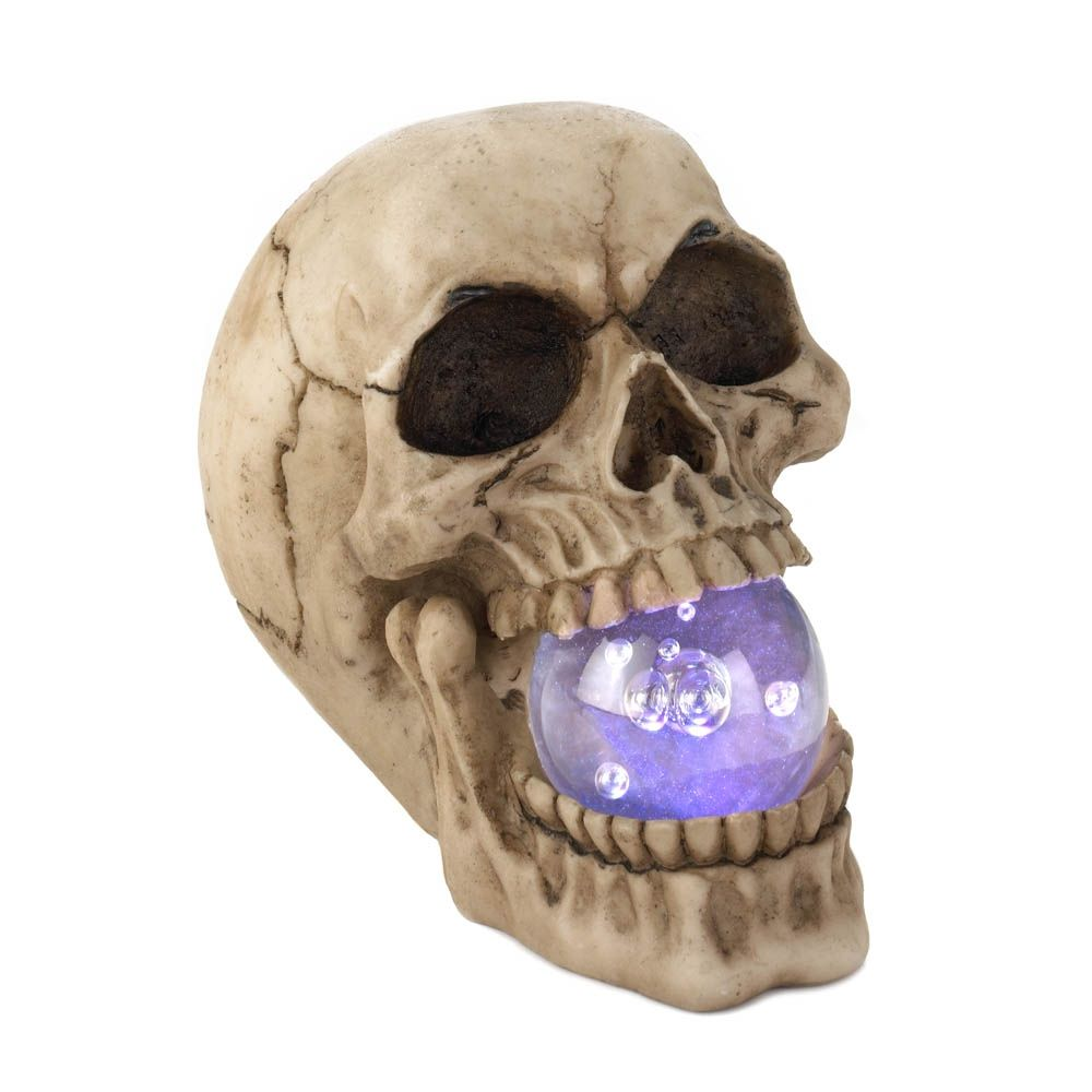 The product Skull With Light-Up Orb is sold by Taylor Made Events For You in our Tictail store.  Tictail lets you create a beautiful online store for free - tictail.com