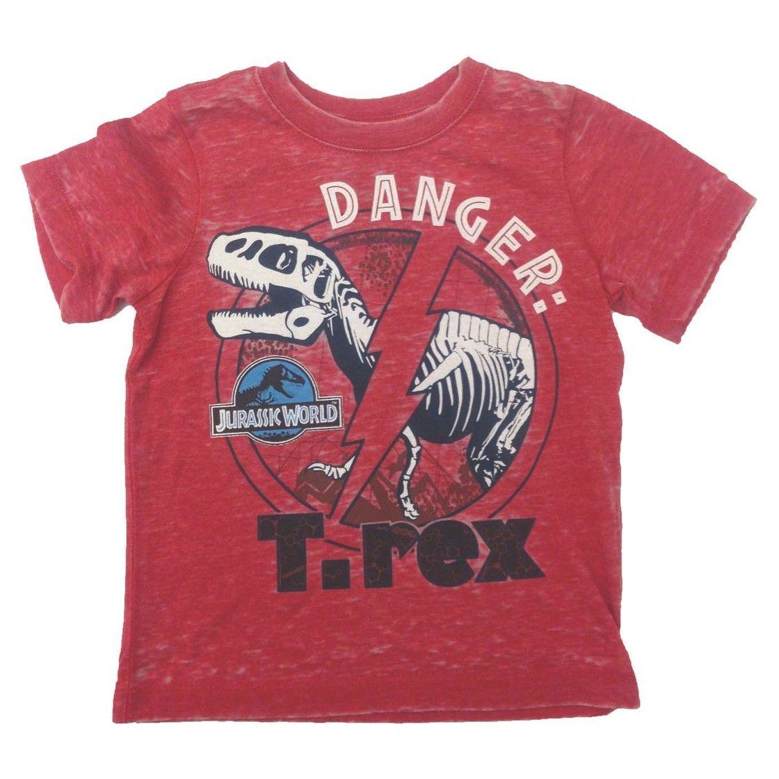 Jurassic World Toddler Boys' T-Rex Tee - Apple Red