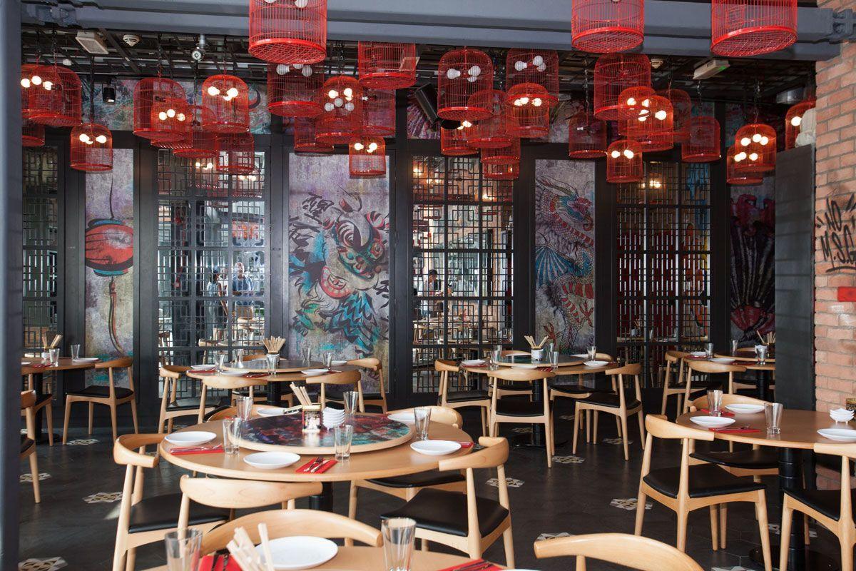 Chinese Restaurant Boxpark 5 Restaurant Decor Japanese Restaurant Interior Restaurant Interior