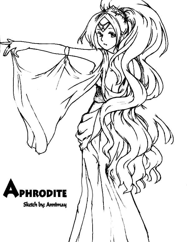 Aphrodite Drawing Aphrodite Coloring Page Coloring Pages