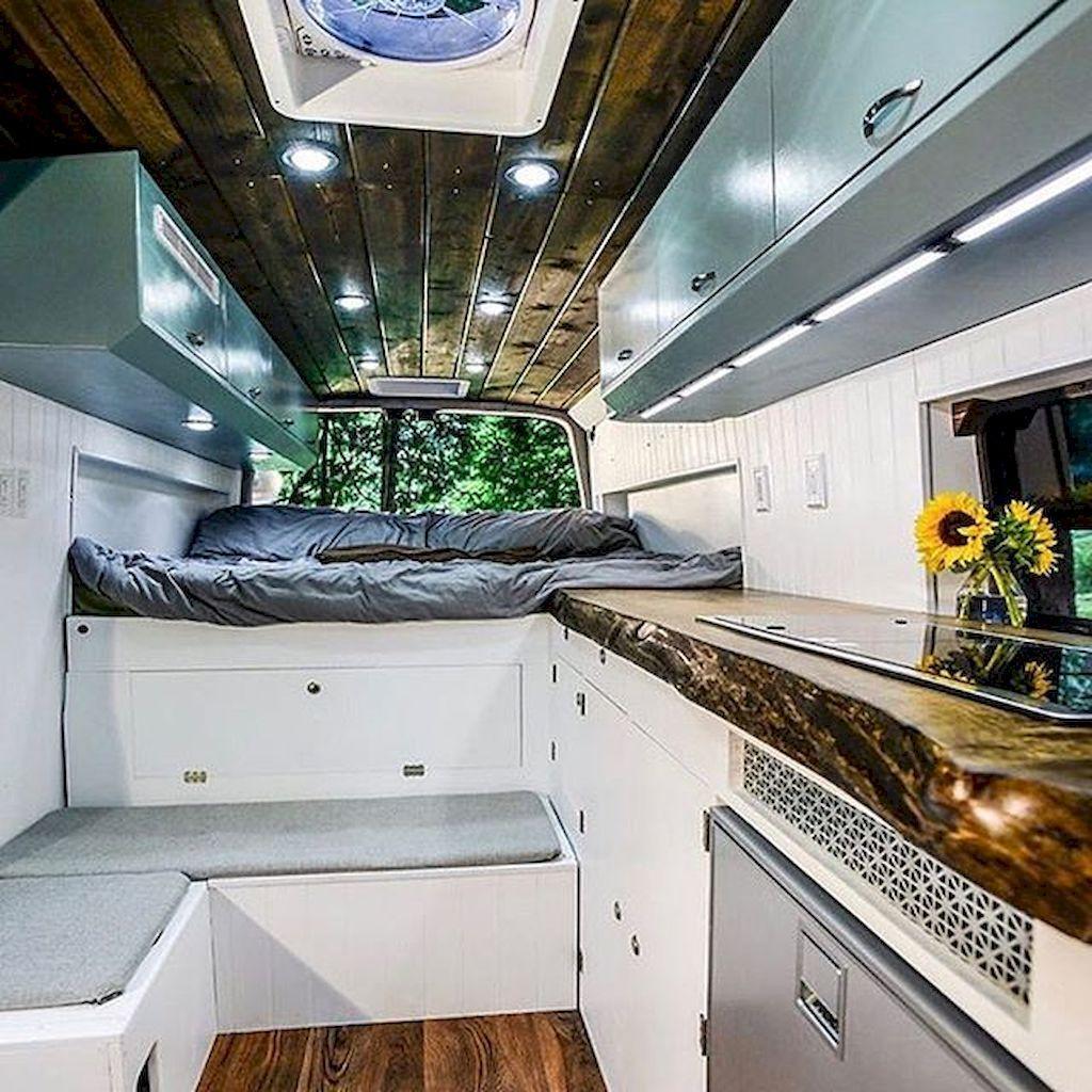 Camper Van Interior Design And Organization Ideas 71