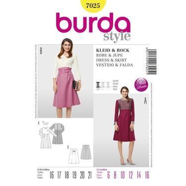Burda 7025 Women\'s Dress & Skirt 6 - 16 Petite | Spotlight Australia ...