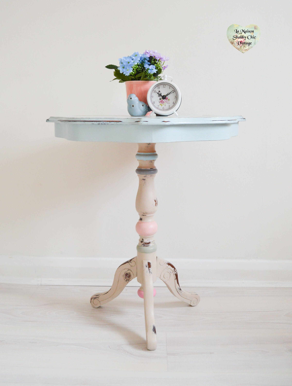 Sold Decoupage Bird Side Table Wooden Round Coffee Table Side End Table Shabby Ch Shabby Chic Furniture Shabby Chic Side Table Shabby Chic Furniture Diy [ 3000 x 2269 Pixel ]