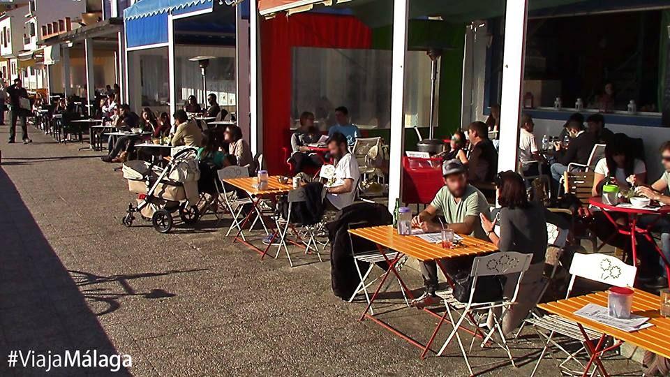 Bares y restaurantes del Paseo Marítimo de Pedregalejo.