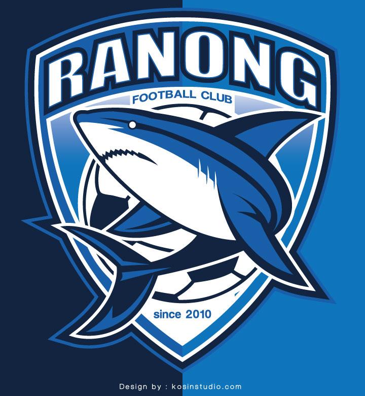 Logo Ranong Football Club Kosin Studio ออกแบบโลโก เกม ฉลาม ปลา