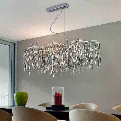 Lámpara de techo LED Katia (60W) | Cromado, LED y Acero inoxidable