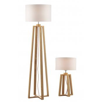 Pyramid Oak Wood Table Lamp And Floor Lamp 2 Lamps Wooden Floor Lamps Wooden Table Lamps Floor Lamp