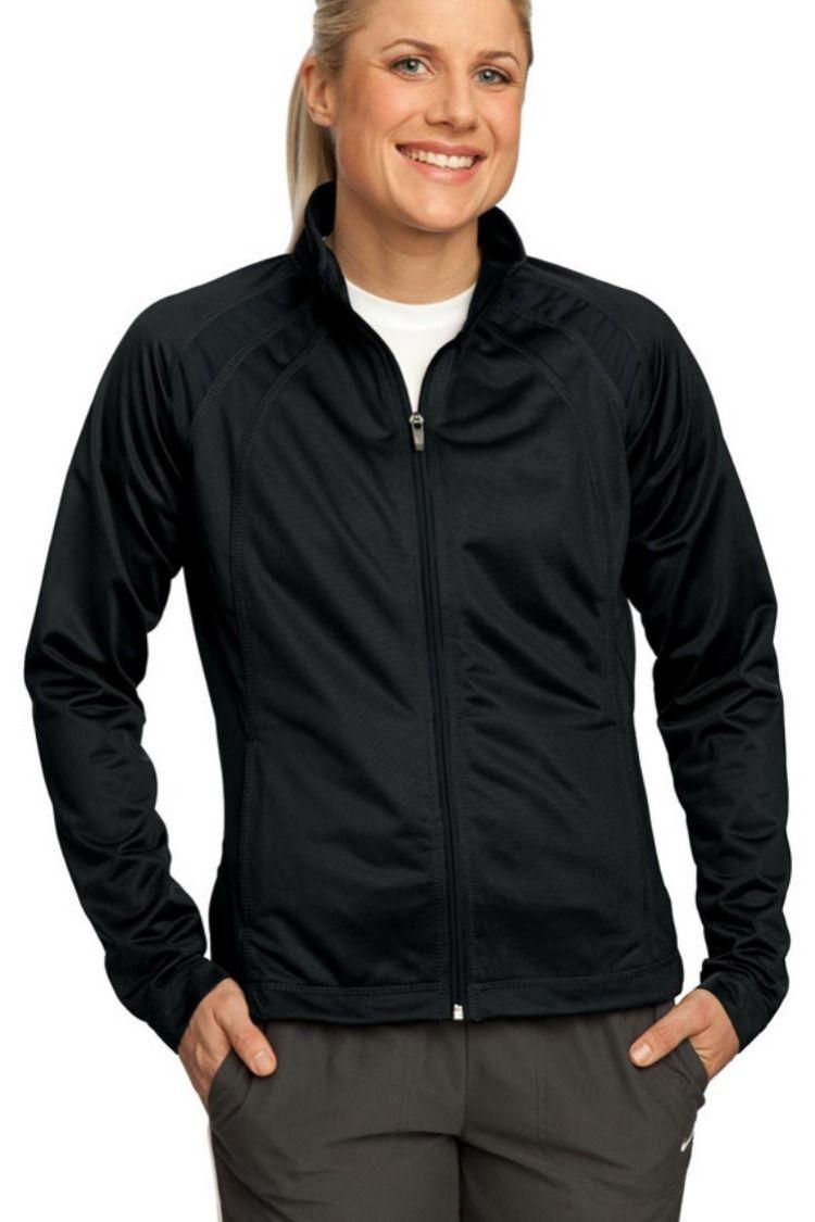 SportTek LST90 Ladies Tricot Track Jacket Active wear