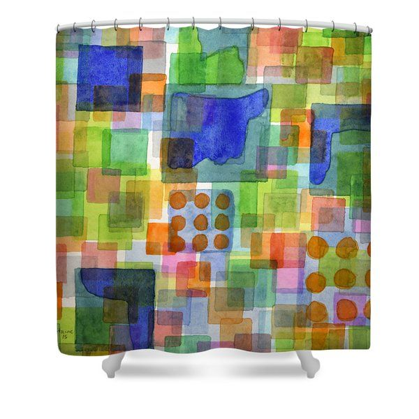 Heidi Capitaine Shower Curtains - Playful Squares  Shower Curtain by Heidi Capitaine