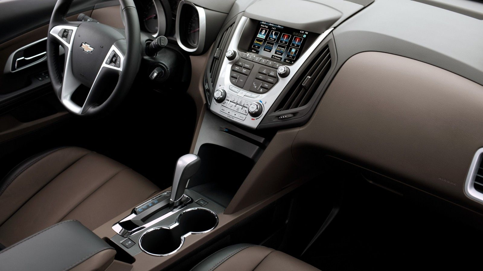 Chevrolet Equinox 2LT interior in Jet Black/Brownstone