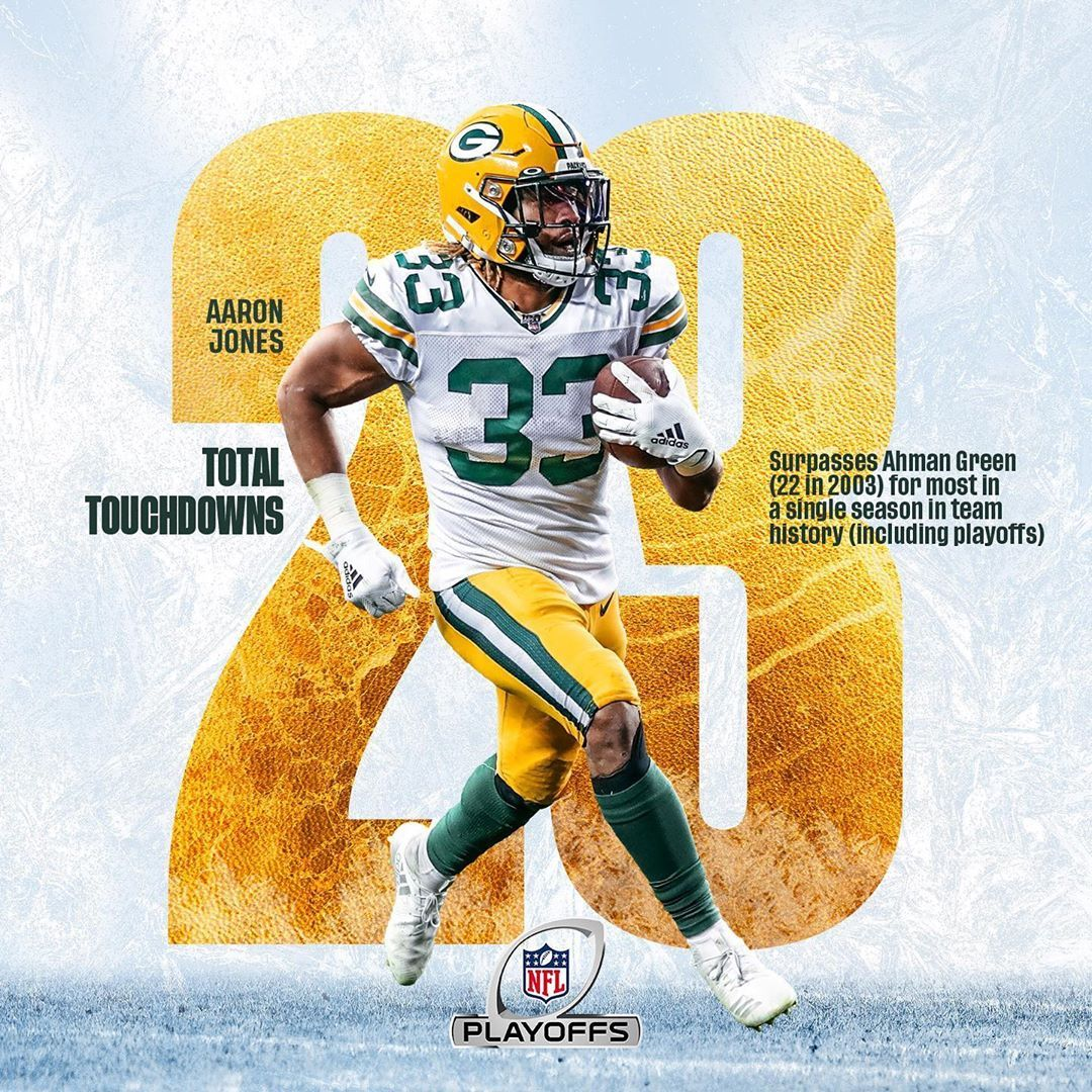 Green Bay Packers On Instagram Showtyme 33 S 2 3 Touchdowns Set A New Packers Record Fo In 2020 Green Bay Packers Football Green Bay Packers Green Bay