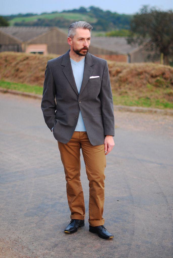 Smart casual menswear: grey blazer | For my over 50 man ...