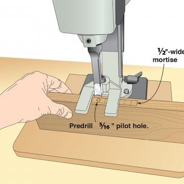 Build you own router mortising jig for precision machined mortises.