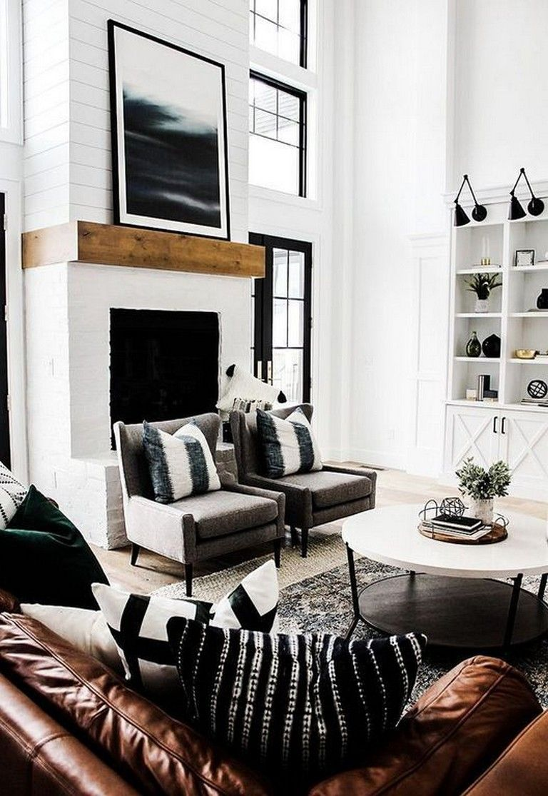 24 Classy Masculine Living Room Design Ideas With Rustic Style Page 11 Masculine Living Rooms Farmhouse Decor Living Room Modern Farmhouse Living Room Decor #rustic #look #living #room