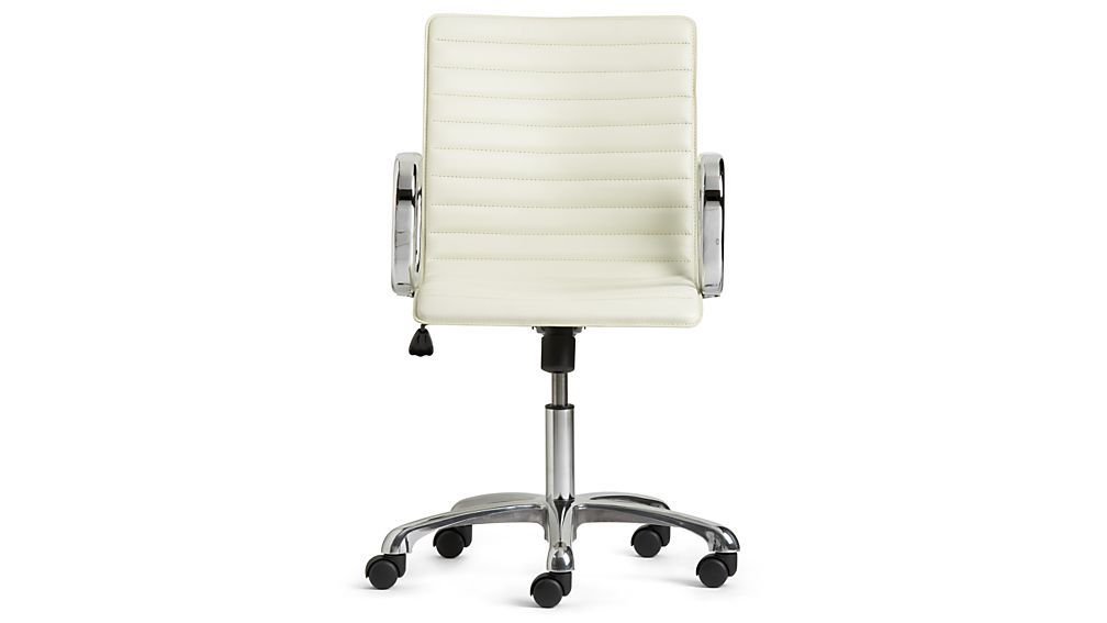 Ripple Ivory Leather Office Chair  sc 1 st  Pinterest & Ripple Ivory Leather Office Chair with Chrome Base | Archive | Chair ...