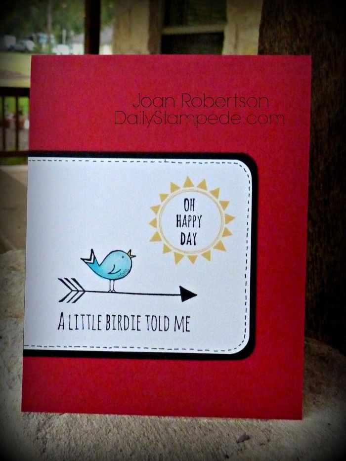 2014-2015 Stampin' Up! hostess set Hello Love -clean and simple card from Joan Robertson www.DailyStampede.com