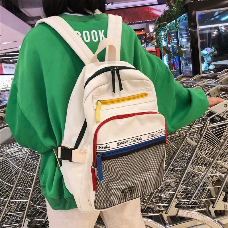 Multi-pocket Travel Canvas Backpack #backpacks