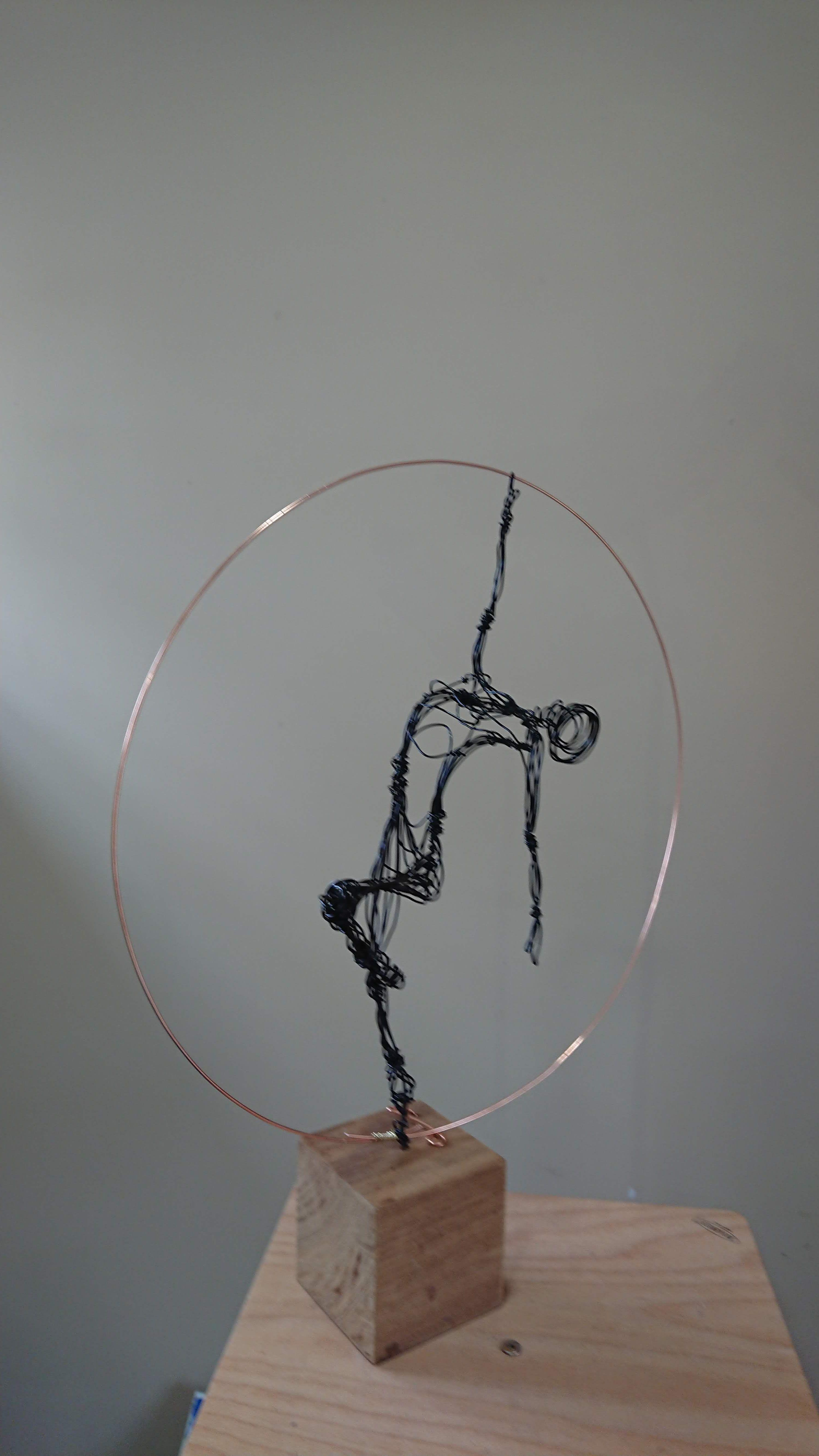Paul Joyner Sculpture Studio, wire sculpture ballet dancer