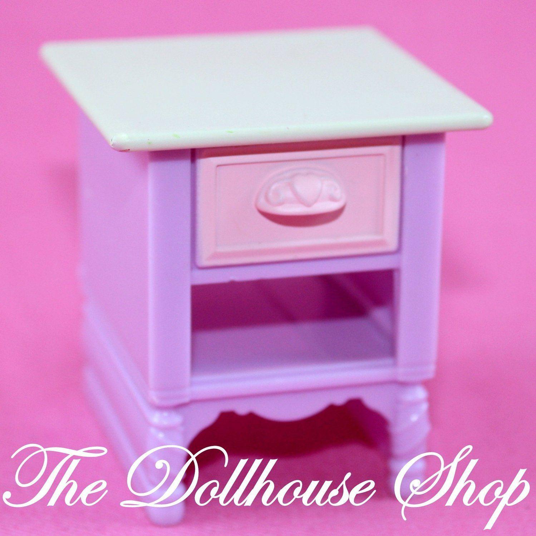 Fisher Price Loving Family Dollhouse Kids Bedroom Pink Bedside