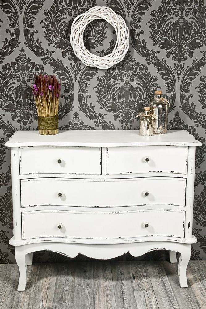 kommode antik wei shabby chic 428 in m bel wohnen. Black Bedroom Furniture Sets. Home Design Ideas