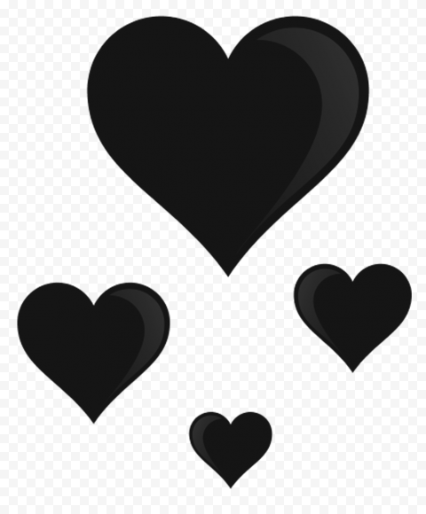 Hd Group Of Black Floating Hearts Png In 2021 Hd Group Love Png Floating