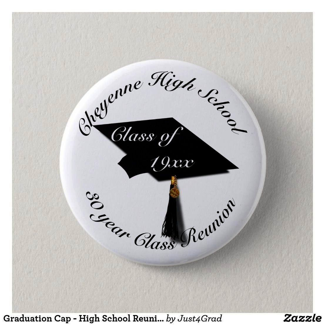 High School Reunion Pinback Button   Graduation Cap  High School Reunion Pinback Button    Teutonic Knights Pinback Button Adult Unisex Size 2  Inch Pale Blue Son  I Wea...