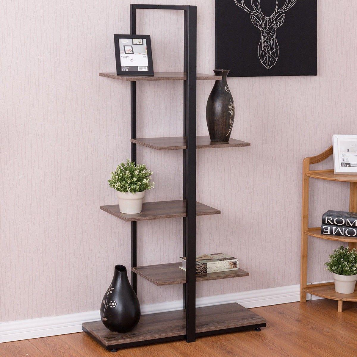 60 Modern Open Concept Display Etagere Shelf Living Room