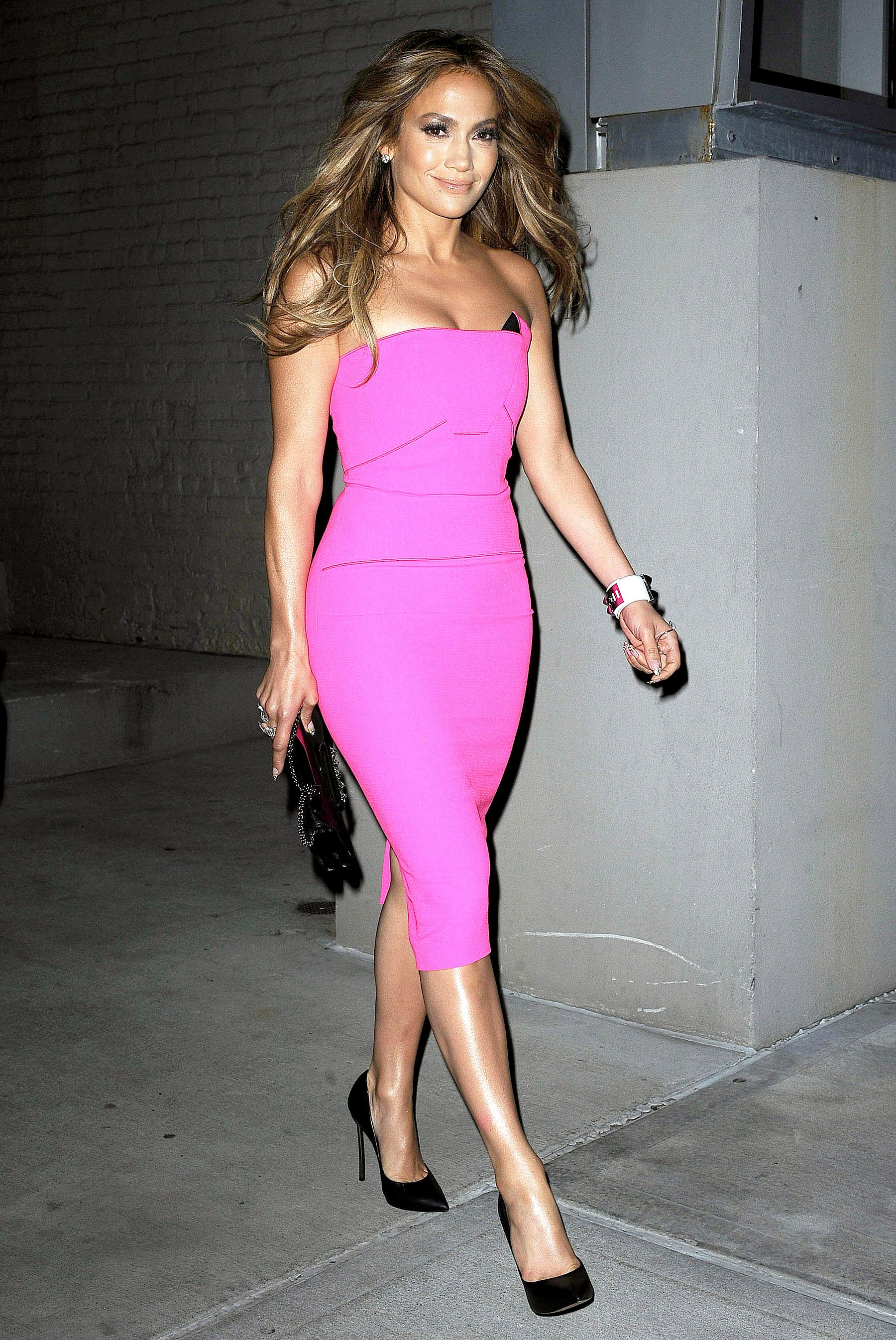 Hot Pink Hotness! See J.Lo's Fuchsia Dress From Her Album Release ...