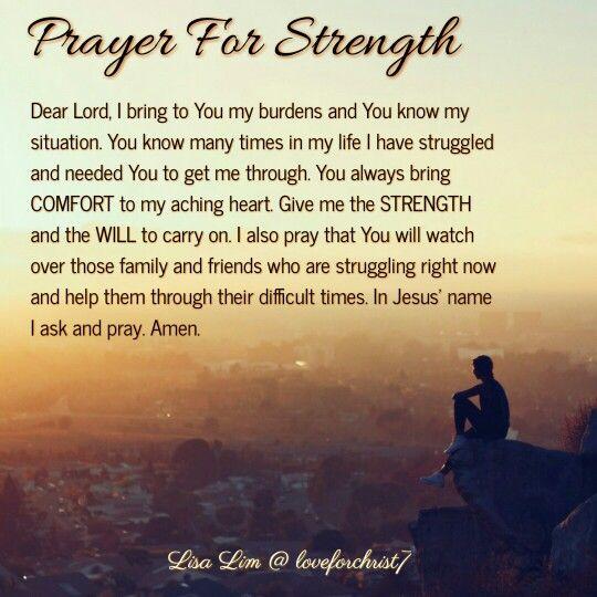 Family My Strength Prayers Comfort And