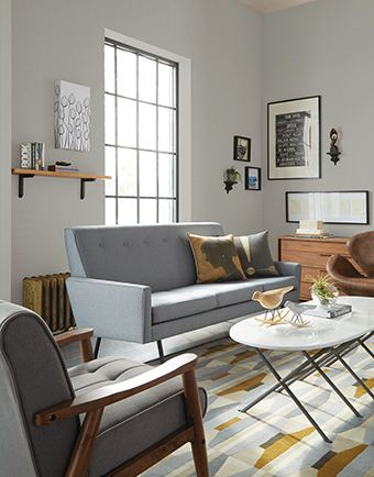 Living Room Using SW 0055 Light French Gray Paint Color For