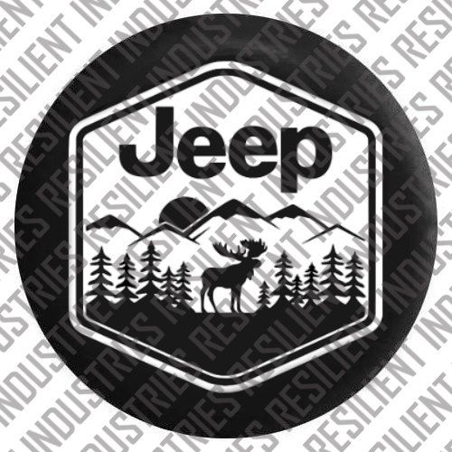 Jeep Spare Tire Cover Jeep Wrangler Moose By Resilientindustries Jeep Covers Jeep Spare Tire Covers Jeep Tire Cover